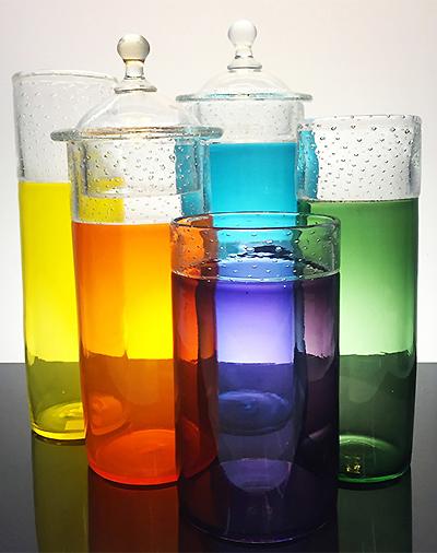 Handblown Glass Jars